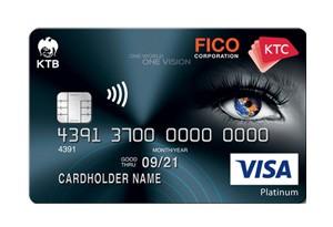 บัตรเครดิต KTC FICO VISA PLATINUM