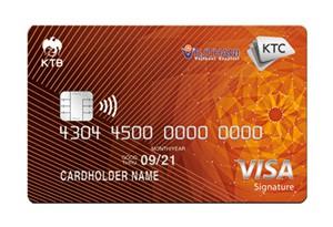 บัตรเครดิต KTC VEJTHANI VISA SIGNATURE
